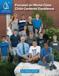 Focused on World-Class Child-Centered Excellence - Minnetonka ...
