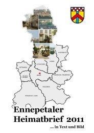 Ennepetaler Heimatbrief 2011 Ennepetaler Heimatbrief 2011