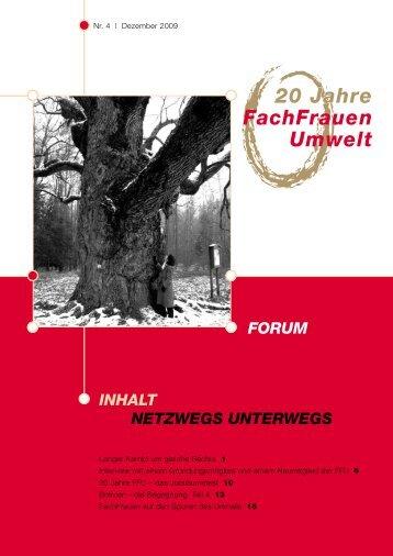 Jubiläumsausgabe 4/2009 - FachFrauen Umwelt