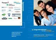 Anmeldung Programm - Jungunternehmerforum