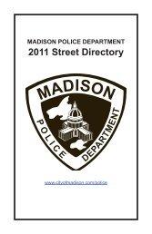 2011 Street Directory - City of Madison, Wisconsin