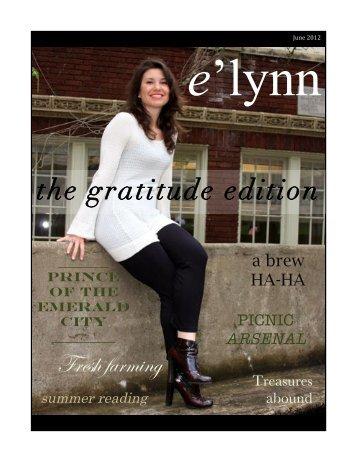 the gratitude edition - e'lynn