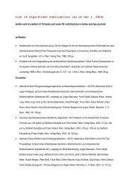 List of Significant Publications Hoepfel - Institut für Strafrecht und ...