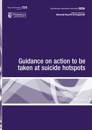 Guidance on action to be taken at suicide - National Mental Health ...