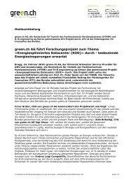 green.ch und KTI projekt - energieoptimiertes ... - LightCom AG