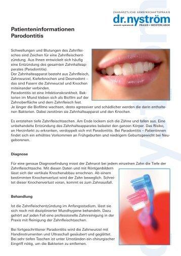 Patienteninformationen Parodontitis