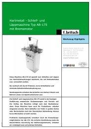Clottu AB 175 Schleif - Friedrich Britsch GmbH & Co. KG