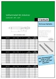 VHM NC-Anbohrer und Reibahlen - Friedrich Britsch GmbH & Co. KG