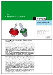 Zeta Sicherheitsspannsystem - Friedrich Britsch GmbH & Co. KG