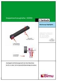 Doppelwerkzeughalter 400RD - Friedrich Britsch GmbH & Co. KG