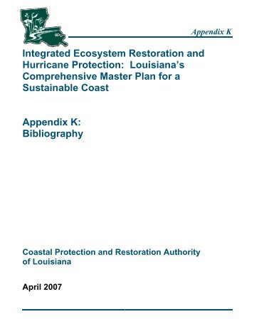 Bibliography - Coastal Protection and Restoration Authority
