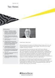 Tax News – September 2011 - Home - Ernst & Young - Schweiz