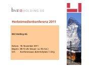 Zur Präsentation - BVZ Holding