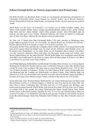 Johann Christoph Keller aus Neutsch, ausgewandert nach ...