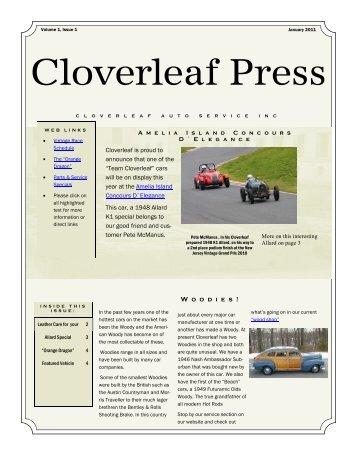 Newsletter V 1 January 2011 - Cloverleaf Auto Service Inc.