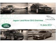 Investor Presentation - Jaguar Land Rover