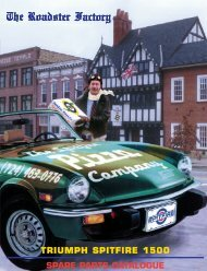 SPARE PARTS CATALOGUE TRIUMPH SPITFIRE 1500 - Zeni.net
