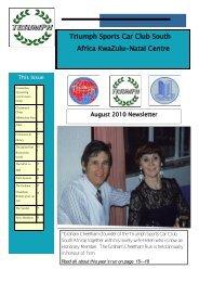 Triumph Sports Car Club South Africa KwaZulu-Natal Centre