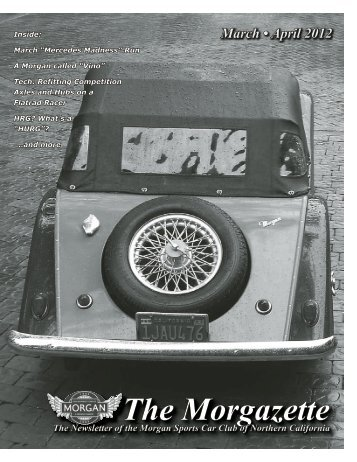 2012 Morgazette, Mar-Apr Issue - Morgan Cars for Sale