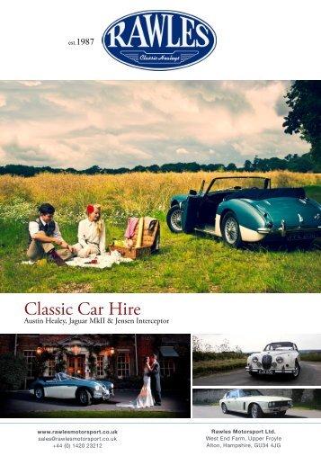 Classic Car Hire - Rawles Motorsport Ltd
