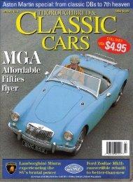 Great British Sports Cars, MGA