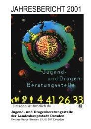 JAHRESBERICHT 2001 - Jugend- und Drogenberatungsstelle
