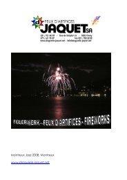 Catalogue feux Jaquet 2008-2009 - Droguerie Jaquet