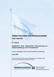 Ergebnisse einer empirischen Untersuchung zur ... - Nordakademie