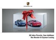 60 Jahre Porsche. Zum Jubiläum: Das Boxster & Cayman Leasing
