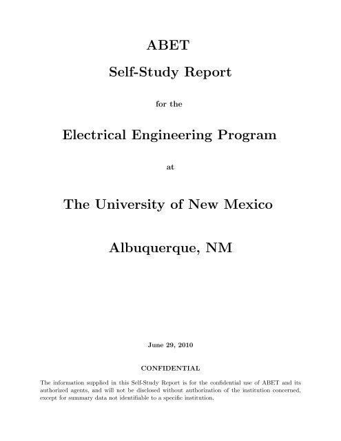 ABET Self-Study Report Electrical Engineering Program The ... on