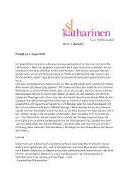 100801-kath-benedict.. - Hauptkirche St. Katharinen | Hamburg