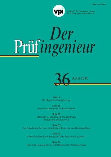 Der Prüfingenieur April 2010 - BVPI - Bundesvereinigung der ...