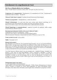 Entraînement à la compréhension de l'oral - Académie de Reims