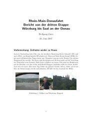 Rhein-Main-Donaufahrt Bericht von der dritten Etappe - Segelclub ...