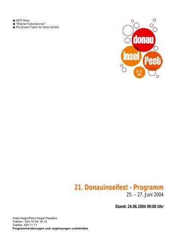 donauinselfest at magazine