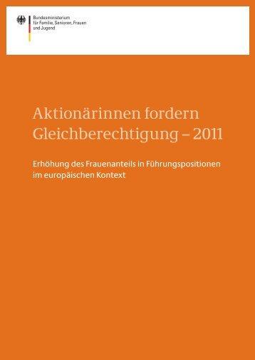 Aktionärinnen fordern Gleichberechtigung – 2011
