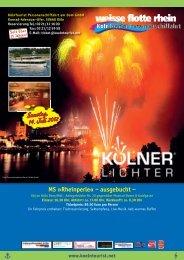MS »Rheinperle« – ausgebucht - Kölntourist