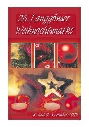 26. Langgönser Weihnachtsmarkt - Gemeinde Langgöns