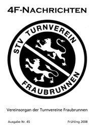 4F-Nachrichten Mai 2008 - Turnverein Fraubrunnen
