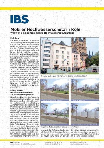Mobiler Hochwasserschutz in Köln
