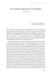 Zur älteren Geschichte von Seeberg / Karl H. Flatt - DigiBern