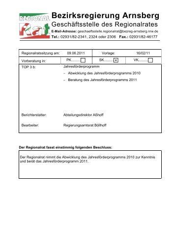 TOP 3 b - Vorlage 16/02/11www - Bezirksregierung Arnsberg