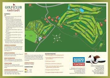 Scorecard >>Scorecard hier downloaden - Golfclub Radstadt