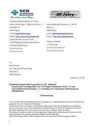 "Vorhabenbezogener Bebauungsplan Nr. 187 ""Bahnhof ... - VCD"