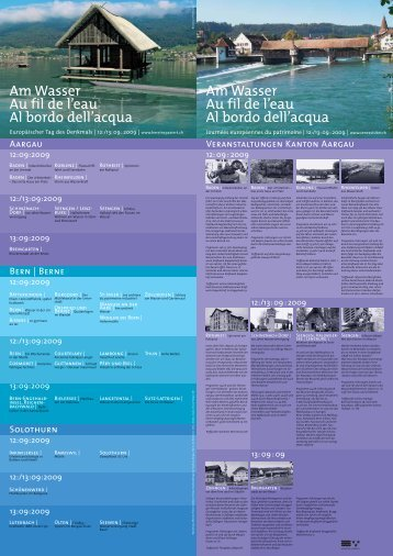 Flyer Europäischer Tag des Denkmals 2009 ... - Kanton Bern