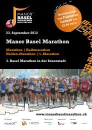 Manor Basel Marathon - IMG (Schweiz)