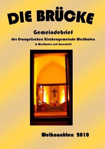 Deichen oder weichen (eine Kurzgeschichte) - evangelische ...