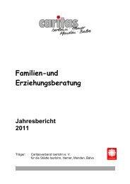 Familien-und Erziehungsberatung Jahresbericht 2011