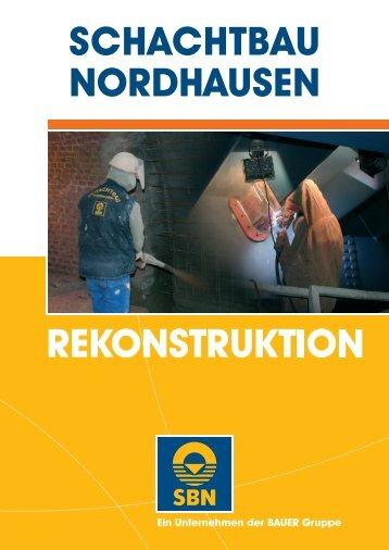 Prospekt Rekonstruktion - SCHACHTBAU NORDHAUSEN GmbH