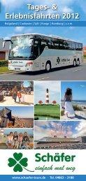 Tages- & Erlebnisfahrten 2012 - Taxi Schäfer
